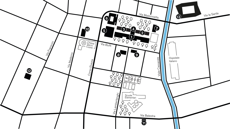 Lugano Campus: map, access, facilities | USI Desk